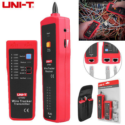 UNI-T UT682 RJ11 RJ45 Wire Tracker Line Finder Telephone Network Cable Tester