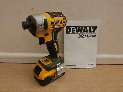 Dewalt Xr 18V Dcf887 Impact Driver Bare Unit + Dcb184 5 Ah Battery