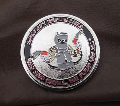 Ned Kelly Military Challenge coin. RAAF Refuellers collectable coin.