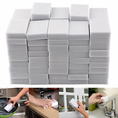 Neu 50/100 PCS Melamine Foam Magic Sponge Eraser Home Cleaning Cleaner Pad ED