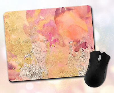 Custom ~ Pattern, Watercolor, Maroon, Gold, Silver, Gift ~ Vivid Mouse Pad 4