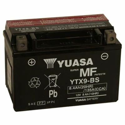Genuine Yuasa YTX9-BS YTX9BS Motorcycle Battery with Filling Kit