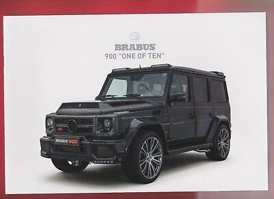 BRABUS Prospekt * 900 One of Ten * IAA 2017 sehr selten Brochure Mercedes Tuning