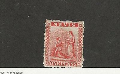 Nevis, Postage Stamp, #14 Mint Hinged, 1876