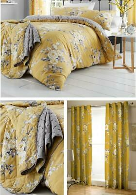 Catherine Lansfield Canterbury Ochre Duvet Cover Bed Linen Set or Accessories