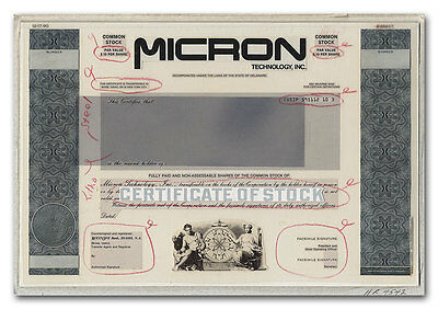 Micron Technology, Inc. RARE ABN Production Portfolio and Vignette Proof