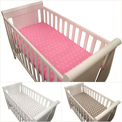 Fitted sheet for Crib/Cradle 90x40cm Cot 120x60cm Cot Bed 140x70cm 100% COTTON!