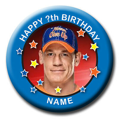 Personalised Wwe John Cena Wrestling Birthday Badge / Fridge Magnet / Mirror