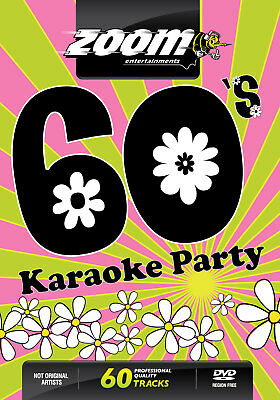 Zoom Karaoke Sixties 60's Karaoke Party DVD - 60 tracks on 2 DVDs