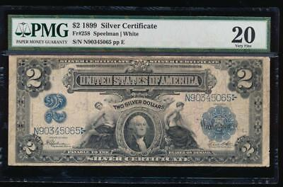 AC Fr 258 1899 $2 Silver Certificate PMG 20 Agricultural Note!