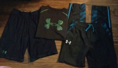 Boys Youth (L) Nice- Lot Of 3- Under Armour- Athletic Mixed Clothing Lot