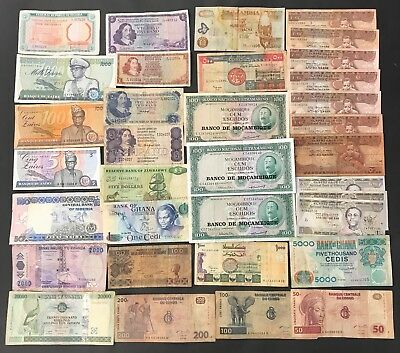 34 X Mixed African Banknote Collection - Bulk Lot.  (1530)