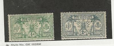 New Hebrides - British, Postage Stamp, #17, 19 Mint Hinged, 1911