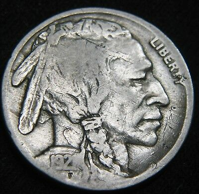 Nice KEY Date 1921-S BUFFALO NICKEL 5c! Free S&H! LOW Mintage 1.5 million EG74UN