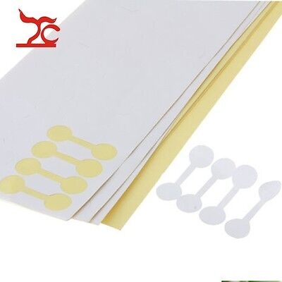 400pcs Round Ring White Jewelry Sticky Retail Price Label Display Tags Stickers