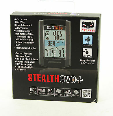 CatEye Stealth EVO Plus GPS Cycling Computer CC-GL51