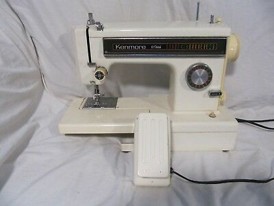 Heavy Duty Kenmore 158 Free Arm Sewing Machine Tested (212)