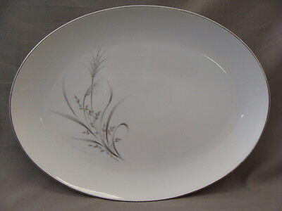 CastleCourt Fine China Serving Platter, Wheat Spray Pattern , Made In Japan