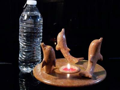 Marble tealight Candle Holder dolphin stand Home Decor