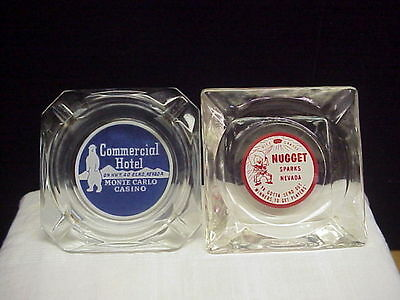 Vintage Commerical Hotel Casino and Nugget Nevada Advertising Ashtrays