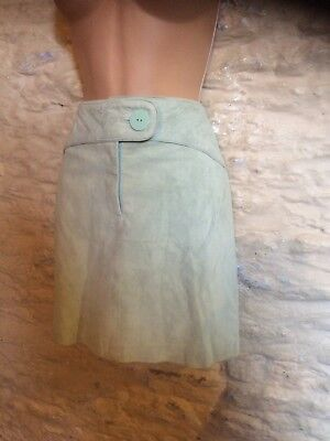 BNWT next blue suede leather skirt size 10