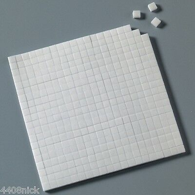 5 SHEETS DOUBLE SIDED STICKY FOAM PADS 5 mm x 5 mm x 1 mm (2000 total)
