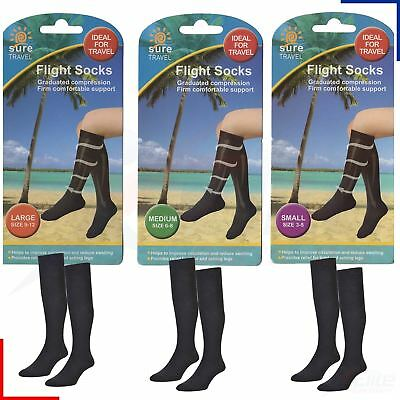 Sure Travel Unisex Mens Womens Compression Flight DVT Socks S M or L