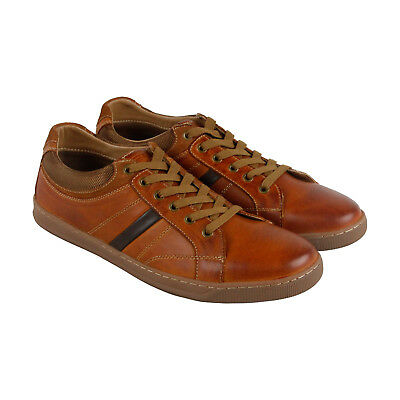 Steve Madden Calahan Mens Brown Leather Lace Up Lace Up Sneakers Shoes