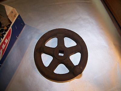 Vintage Medium 6inch Cast Iron 5 Spoke Industrial Valve FJ4 steam punk
