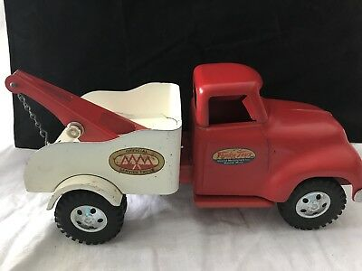 Vintage Tonka Mound Metalcraft Toy- Official Service Tow Truck Wrecker 1955