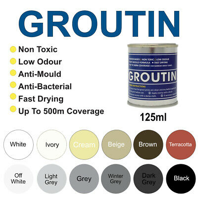 Groutin Grout Reviver & Restorer, Grout Pen, Anti-Fungal & Anti Bacterial 125ml