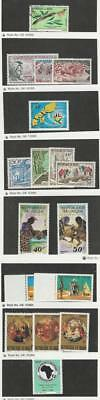 Niger, Postage Stamp, #244//571 Mint NH & Used, 1971-81