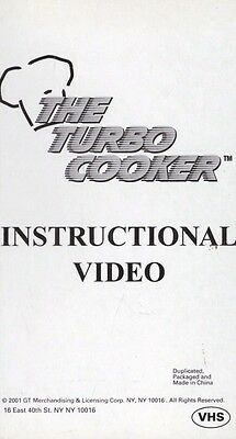 The Turbo Cooker VHS Video Tape 2001 Instructional Video Manual New Sealed