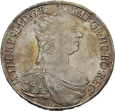 Lanz Rdr Habsburg Maria Theresia Konventions Taler Hall 1765 Silber ±Ask1889