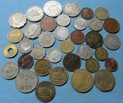 Lot  c.1900s Middle East Old Coins Iraq Saudi Arabia Turkey Unsearched Clearance