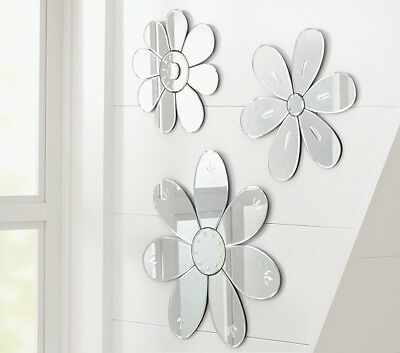Pottery Barn Kids Flower Shaped Mirrors Set of 2 BRAND NEW with tags RARE HTF