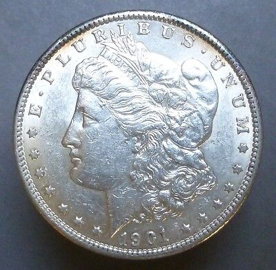 1901 Morgan Silver Dollar  Attractive  Au