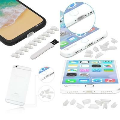 10Charging Port Cover For Iphone 7  Lightning Plug  Anti Dust Silicone Cap Clear
