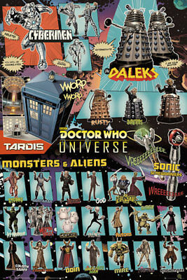 DOCTOR WHO UNIVERSE - COLLAGE POSTER 24x36 - DR 52491