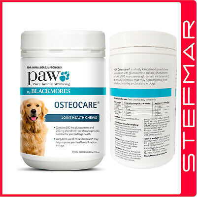 PAW Blackmores Osteocare Joint Health Chews 500G Dog Health Supplement EXP09/20