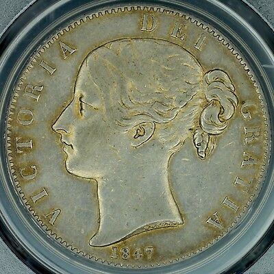 Crown 1847 PCGS XF45 Great Britain Silver Young Head Vicoitria S-3882