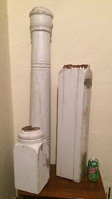 "Antique Vintage 27"" 19c Wood square porch post column architectural salvage"