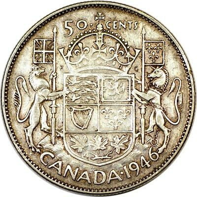 1946 50C Canada 50 Cents XF  K2868