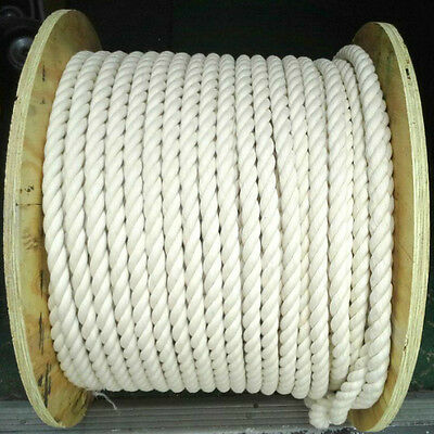 """1"""" thick 100% Natural Cotton Twist Rope Sold By the Foot 4 Birdtoys Dogs Crafts"""