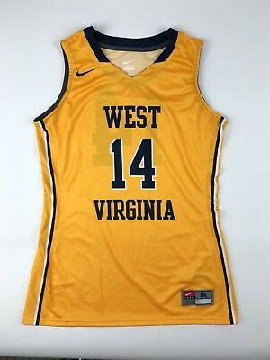 size 40 a0680 a6182 NEW NIKE WEST Virginia Mountaineers Elite Basketball Jersey Women Medium  Yellow