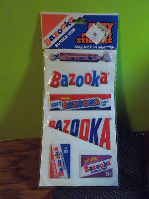 Vintage 1980's Puffy Stickers Bazooka  Bubble Gum