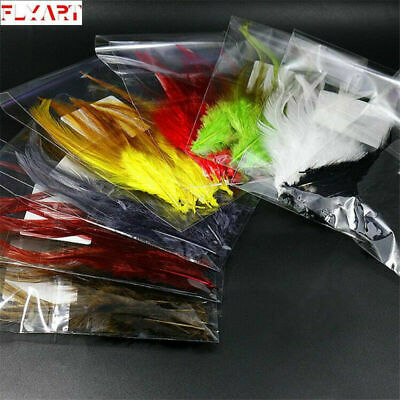 8colors Rooster Saddle Hackle/Streamer&Woolly Bugger Fly Tying Hackle Feather