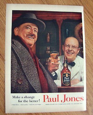 1955 Paul Jones Whiskey Ad - Make a Change for the Better