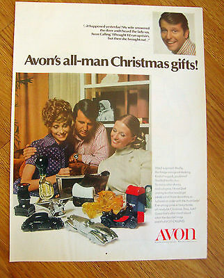 1970 Avon Ad  All-Man Christmas Gifts  Decanters