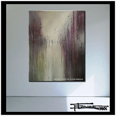 LARGE Original ABSTRACT CANVAS PAINTING Modern Wall Art Framed USA ELOISExxx
